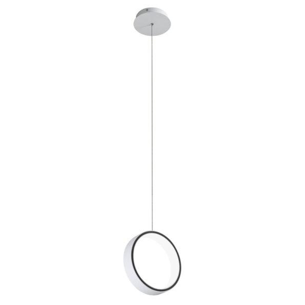 Suspensie Redo Atomo LED 185mm - alb mat, negru mat