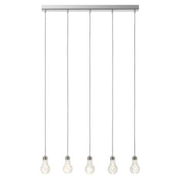 Suspensie Redo Genio cinci LED-uri forma bec