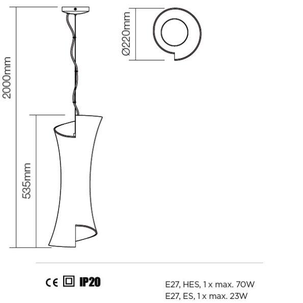 Schita Suspensie Redo Silhouette 220mm