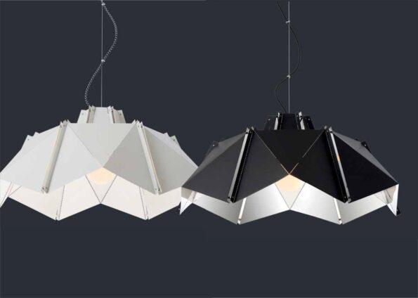 Colectie de lampi de interior Redo Wabi alb negru
