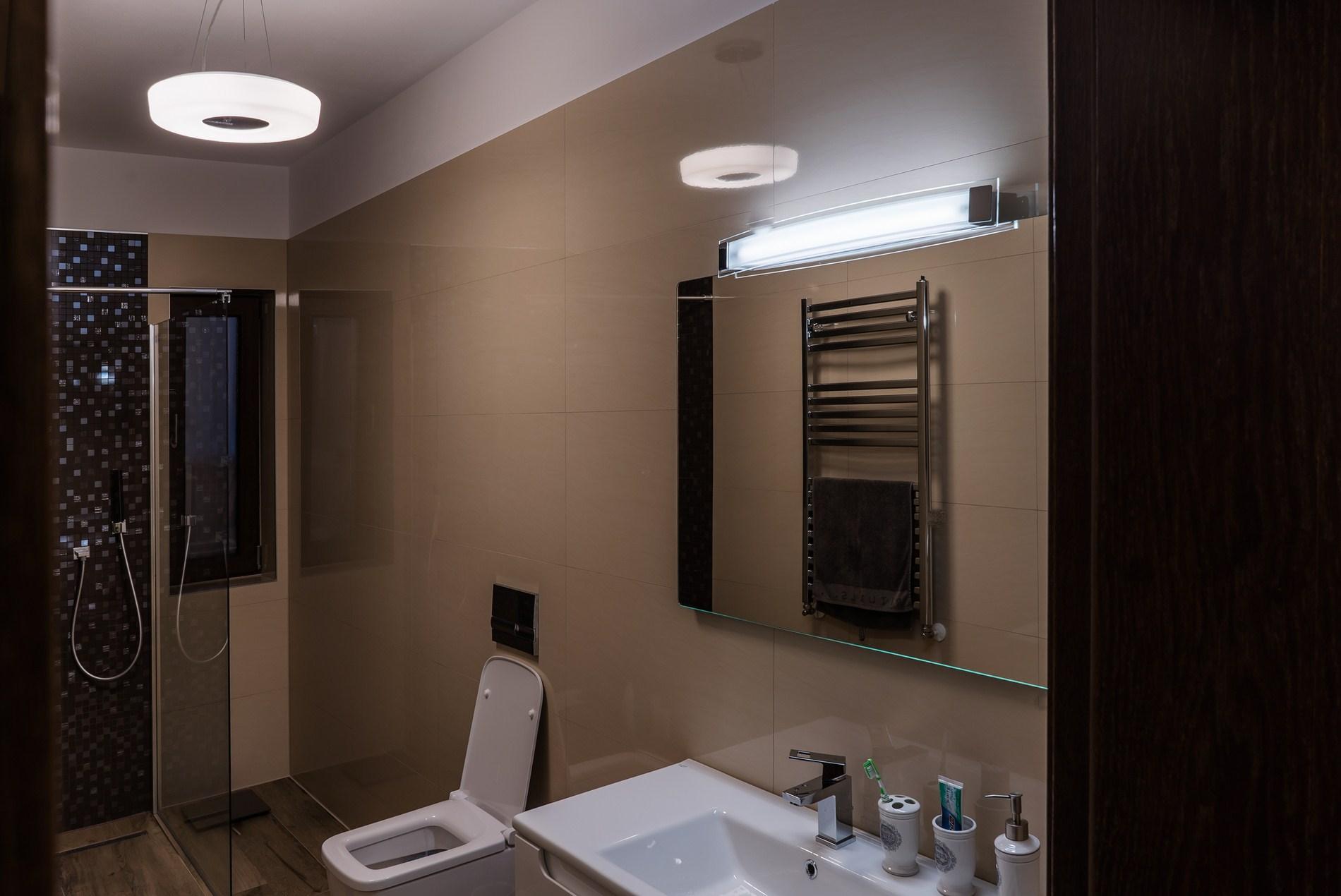 Aplica tub fluorescent baie Redo Glance - Proiect iluminat locuinta Annora Lighting