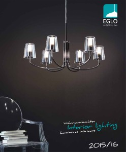 EGLO INTERIOR LIGHTING - cover page catalog