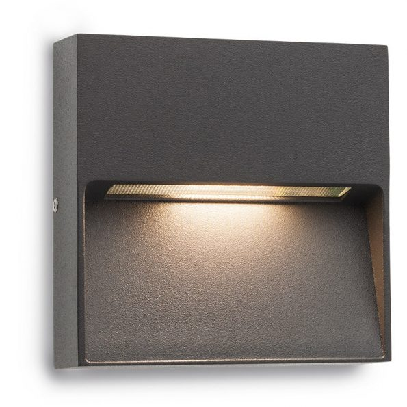 Aplică pentru iluminat exterior LED Redo EVEN pătrată, 100mm