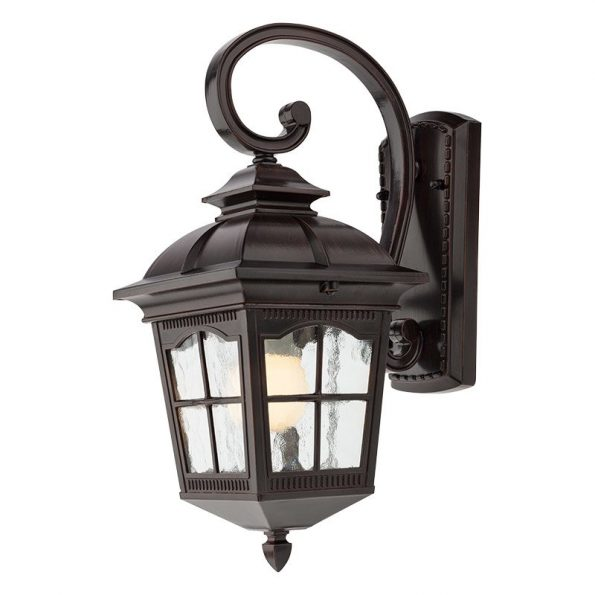 Aplică pentru iluminat exterior Redo YORK negru antic, braț superior, 429mm