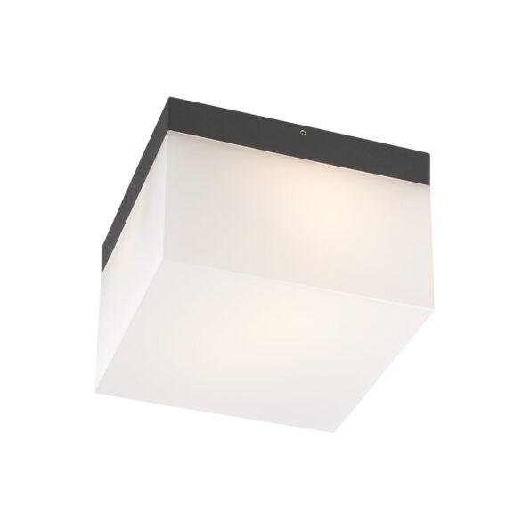 Aplică – plafonieră exterior sursă fluorescentă Redo CUBE, 142mm