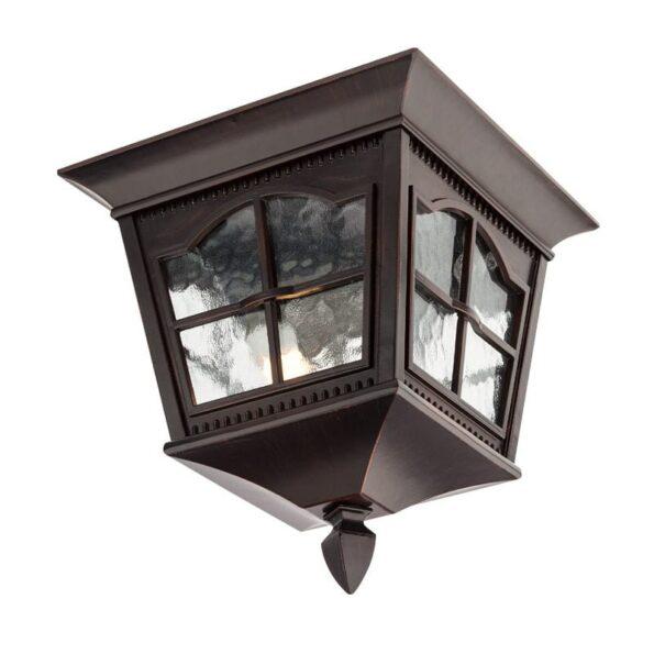 Plafonieră pentru iluminat exterior Redo YORK negru antic