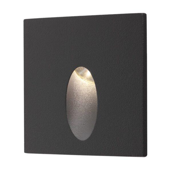 Spot de încastrat pentru exterior/interior Redo SPY LED 3W, 4100K, pătrat