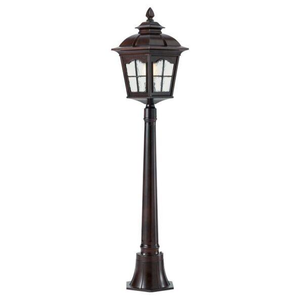 Stâlp pentru iluminat exterior Redo YORK negru antic 1177mm