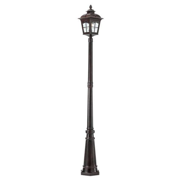 Stâlp pentru iluminat exterior Redo YORK negru antic 2186mm