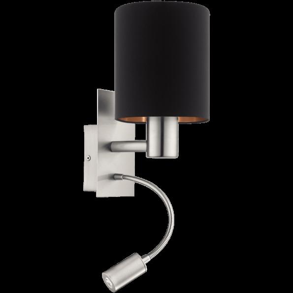 Aplică Eglo PASTERI cu braţ flexibil LED pentru citit, negru-cupru