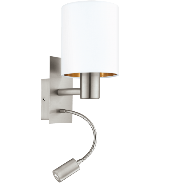 Aplica-cu-LED-pentru-citit-EGLO-PASTERI-95051 alb-cupru