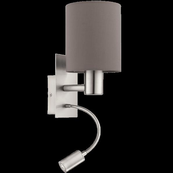 Aplica cu LED pentru citit EGLO PASTERI 94933 maro-antracit