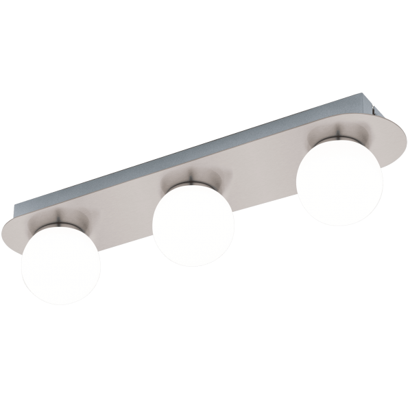 Aplica Plafoniera baie LED Eglo MOSIANO 95012 alb-nichel
