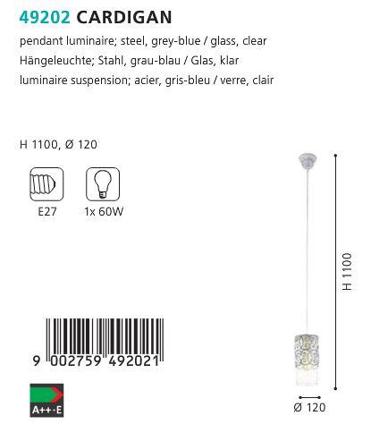 Pendul-Eglo-CARDIGAN-49202-patina-gri-specificatii-tehnice
