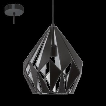 Pendul-Eglo-CARLTON-49255-310mm-negru-argintiu