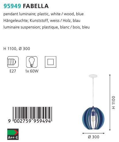 Pendul-Eglo-FABELLA-95949-albastru