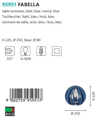 Veioza-Eglo-FABELLA-95951-42w-albastru