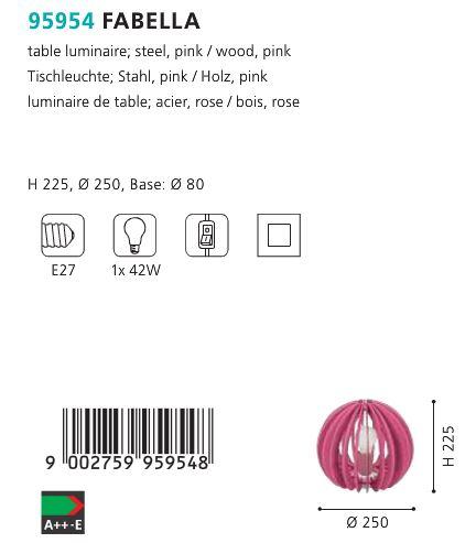 Veioza Eglo FABELLA 95954 roz