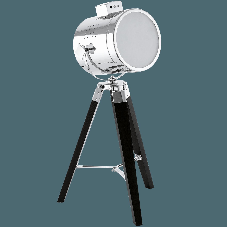 Veioză/lampă De Birou Trepied Eglo Upstreet Negru-crom