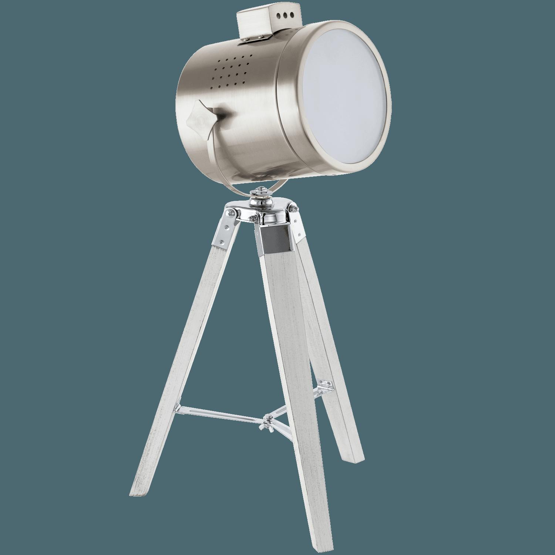 Veioză/lampă De Birou Trepied Eglo Upstreet Alb Patinat-nichel