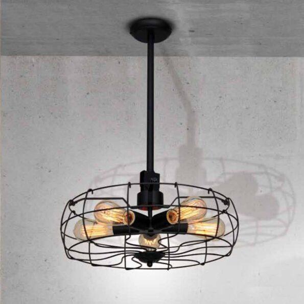 Lustra Pendul Homelighting FAN KS1423P-5BK