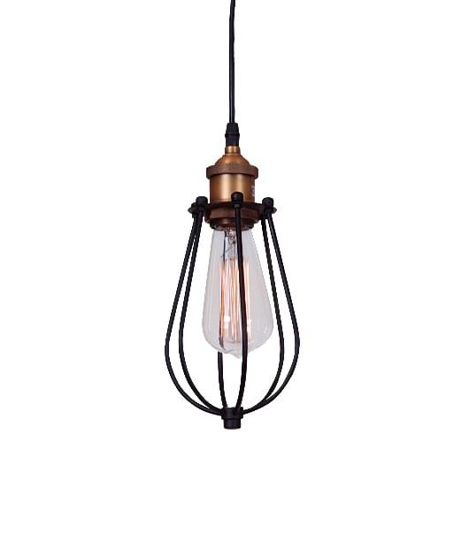 Pendul-Suspensie-Zambelis-1455-negru-bronz-industrial