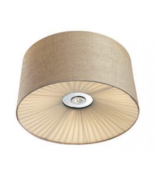 Plafonieră LED Zambelis dispersor textil, ø500mm
