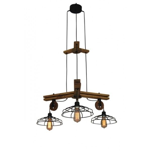 Suspensie/lustră Cu 3 Becuri Home Lighting Deon  Industrial