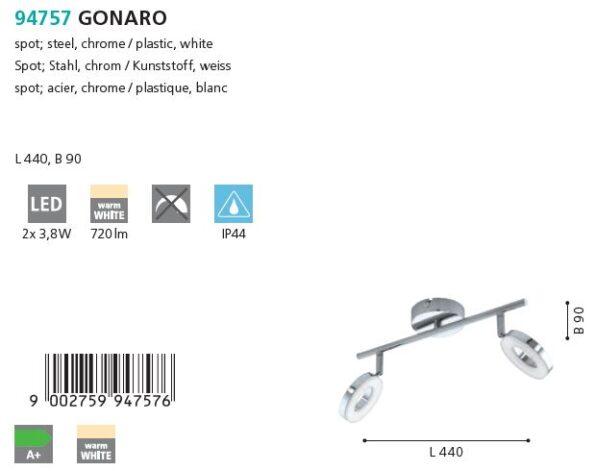 Plafoniera - spot LED Eglo GONARO 94757