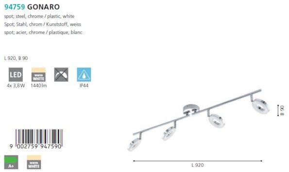Plafoniera - spot LED Eglo GONARO 94759
