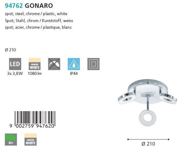 Plafoniera - spot LED Eglo GONARO 94762