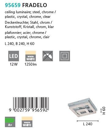 Plafoniera LED Eglo FRADELO 95659