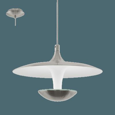 Pendul LED Eglo TORONJA 95955 alb-nichel