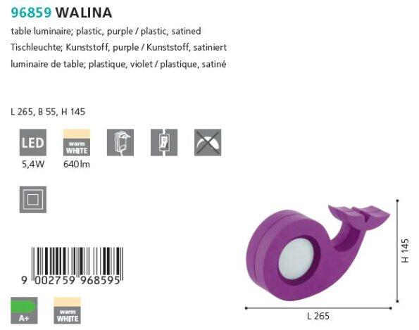 Veioza LED Eglo WALINA 96859 mov