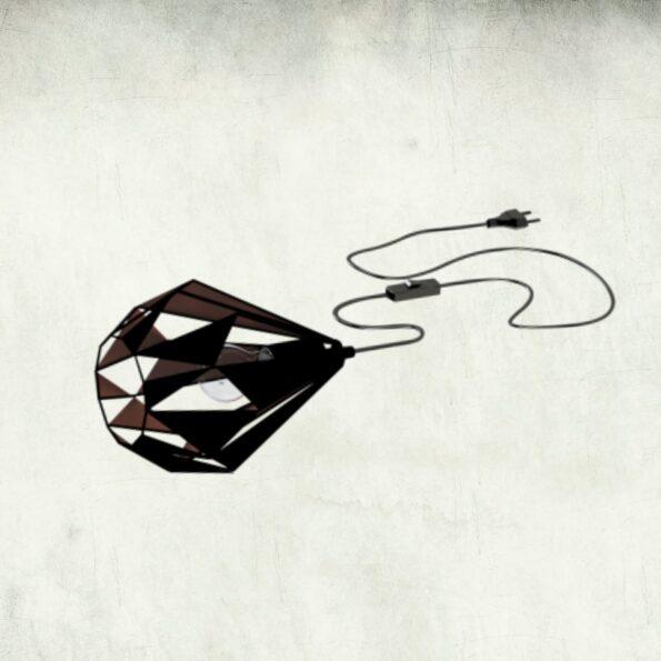Lampa de masa Veioza Eglo Carlton 149993 negru-cupru