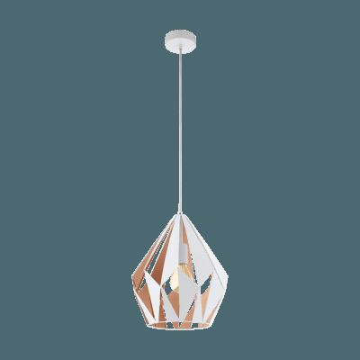 Pendul Eglo CARLTON 44932 310mm alb-auriu