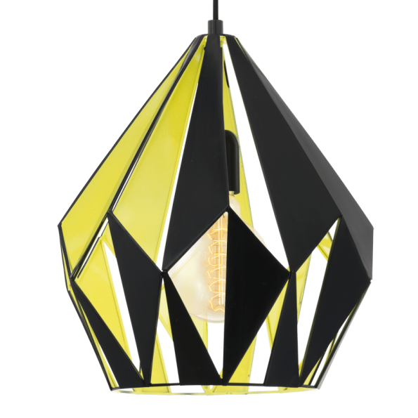 Pendul Eglo CARLTON 49256 310mm negru-galben