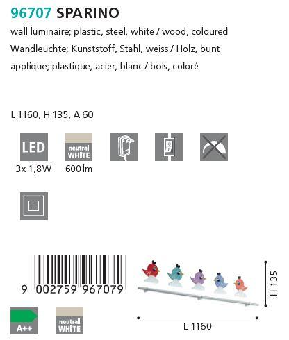 Aplica copii LED EGLO SPARINO_96707