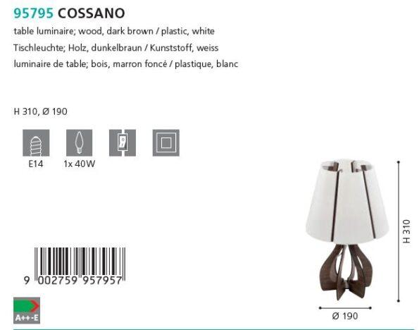Veioza Eglo COSSANO 95795 maro - schita