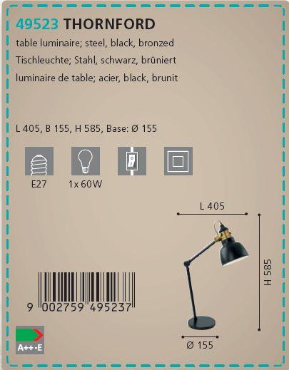 Lampa de masa vintage Eglo THORNFORD 49523