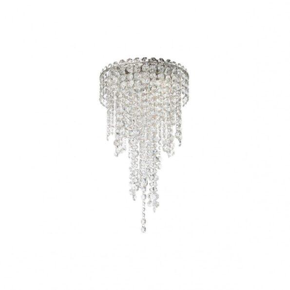 Plafoniera Incanti TREVI ITV_CLR3_10_60, pandantive cristal