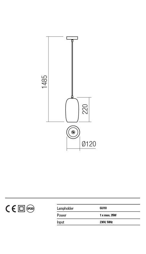 Suspensie LED Redo HAYLEN 01-1402