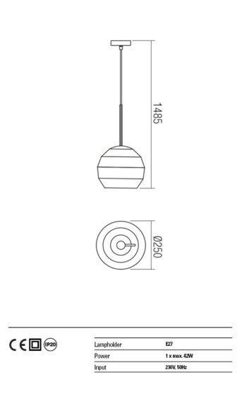 Suspensie orientabila interior Redo ANARU 01-1407 alb