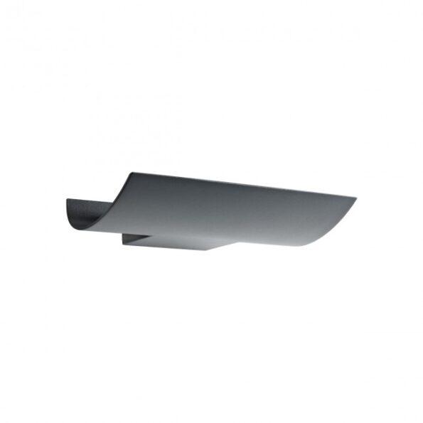 Aplica LED pentru exterior Redo VELA 9112, distributie luminoasa indirecta + driver, gri inchis