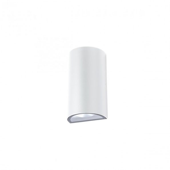Aplica exterior LED 12W Redo ZIP 9522, distributie luminoasa directa-indirecta, alb mat