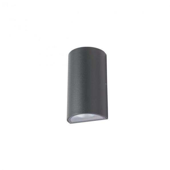 Aplica exterior LED 12W Redo ZIP 9523, distributie luminoasa directa-indirecta, gri inchis