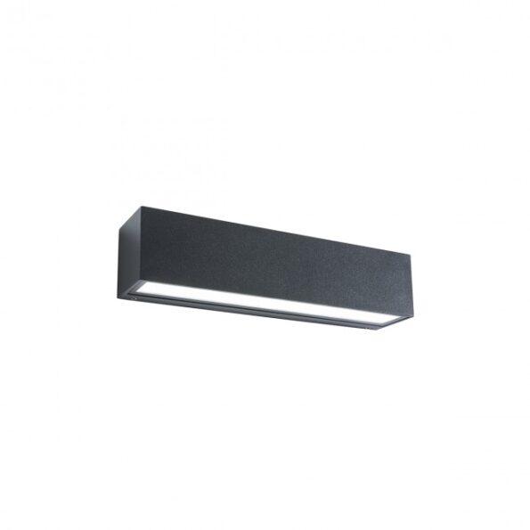 Aplica exterior LED 18W Redo TRATTO 9118, distributie directa-indirecta, gri inchis