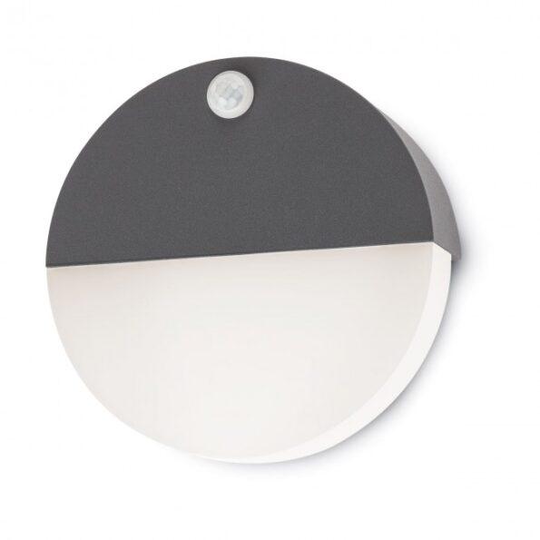 Aplica exterior LED Redo FACE 9162, senzor de prezenta