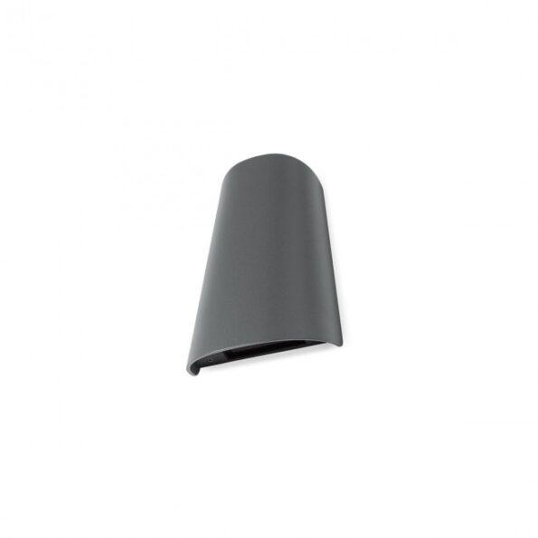 Aplica exterior Redo TWILL 9535 LED SMD 11W, distributie luminoasa directa-indirecta, gri