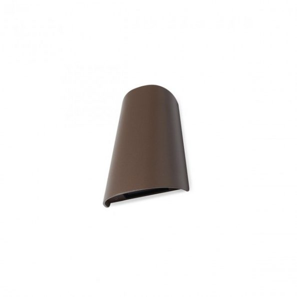 Aplica exterior Redo TWILL 9536 LED SMD 11W, distributie luminoasa directa-indirecta, maro